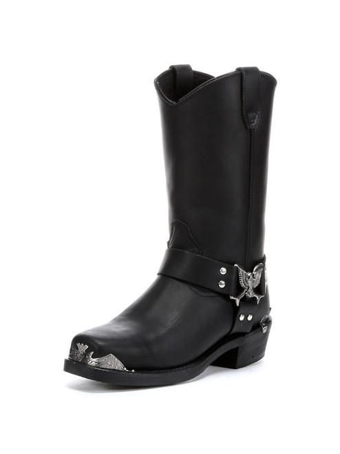 DINGO MEN'S BLACK CHOPPER EAGLE HARNESS STRAP BIKER COWBOY BOOTS DI19053