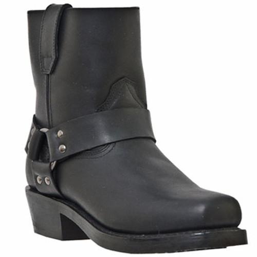 DINGO MEN'S BLACK REV-UP SHORT HARNESS BIKER COWBOY BOOTS  DI19090