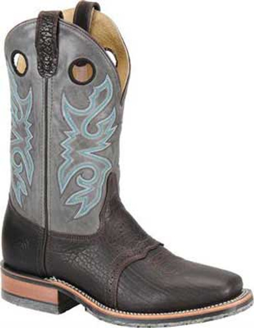 "DOUBLE H MEN'S 11"" DOMESTIC WIDE SQUARE TOE ICE ROPER WORK WESTERN COWBOY BOOTS  3575"