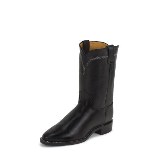 Justin Men's Royal Black Roper Western Cowboy Boot