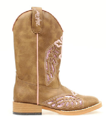 72ddebc2e80 BLAZIN ROXX CHILD'S GRACIE WING/CROSS COWBOY BOOT 4453202