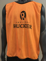 American Rucker Reversible Bib - Orange with Water on the back. Ideal for training and full Team Runs (Backs wear Green and forwards wear Orange). This helps Coaches and players identify who is out of position and allows for quick adjustments without repeated stops.  During Matches, Subs should wear Green (still need to get on the field) and once a player has been substituted, they should wear Orange (bring on the Water).