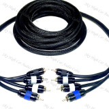 Sky High Car Audio 4-Channel Premium RCA's 12ft-20ft