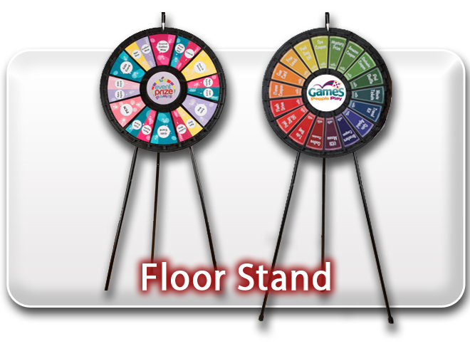 Floor Stand Prize Wheels