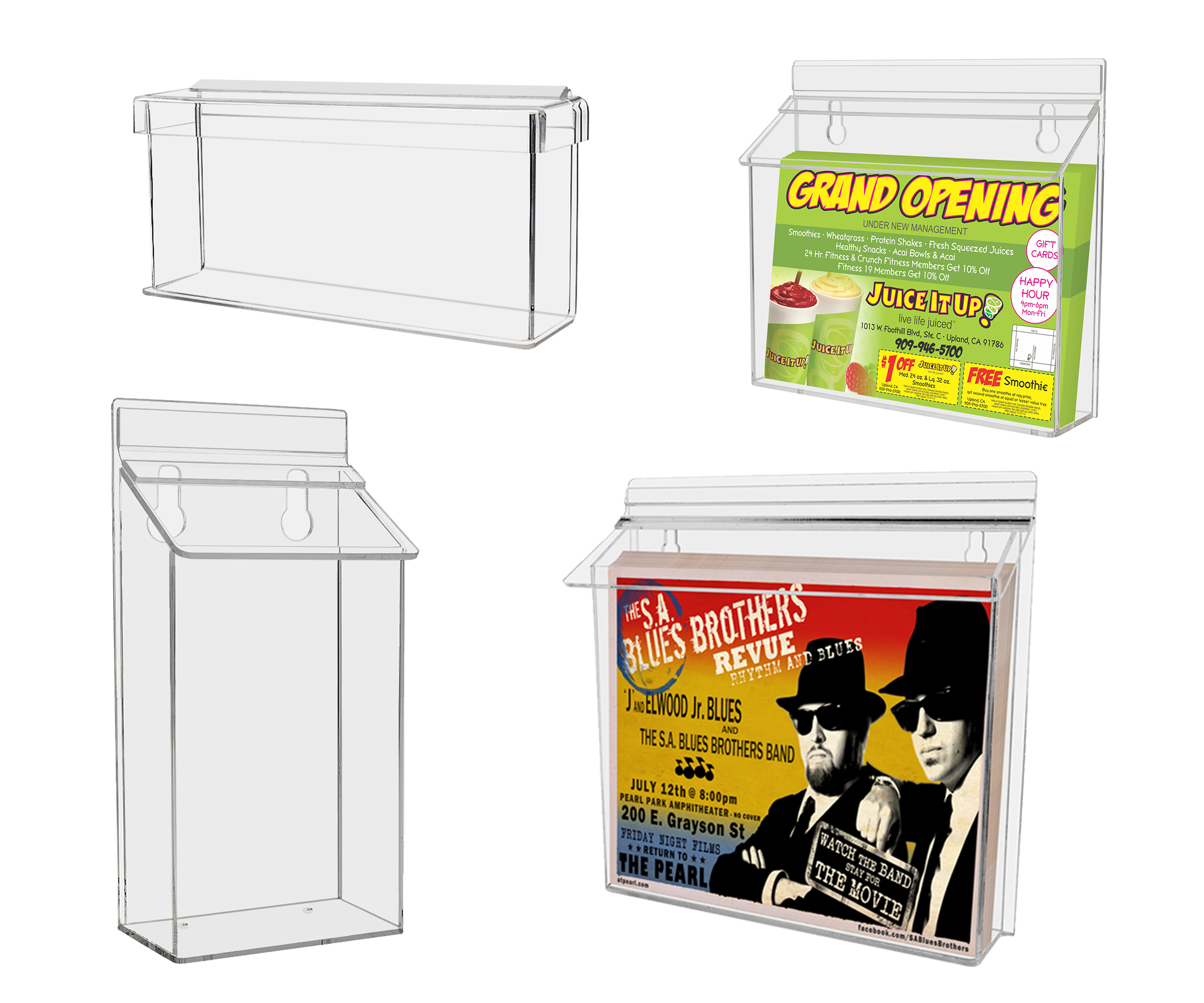 Wall or Counter Brochure Holders
