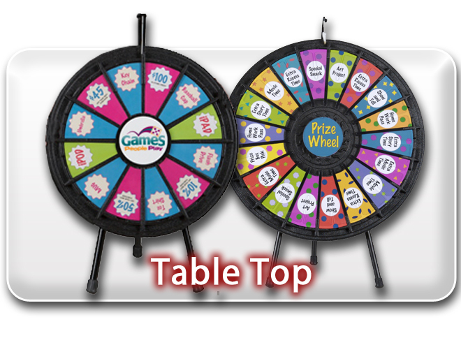 Table Top Prize Wheels