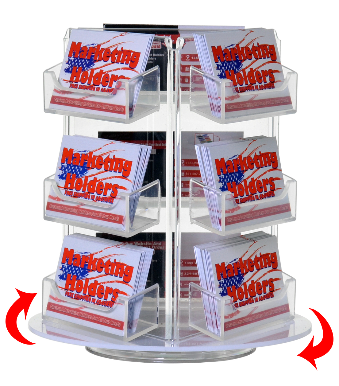 Rotating Business Card and Gift Card Holders