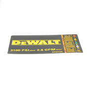 Dewalt N000528 Warning Label
