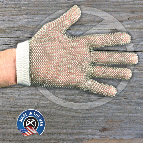 SSG2 Sani-Safe Stainless steel mesh glove in large