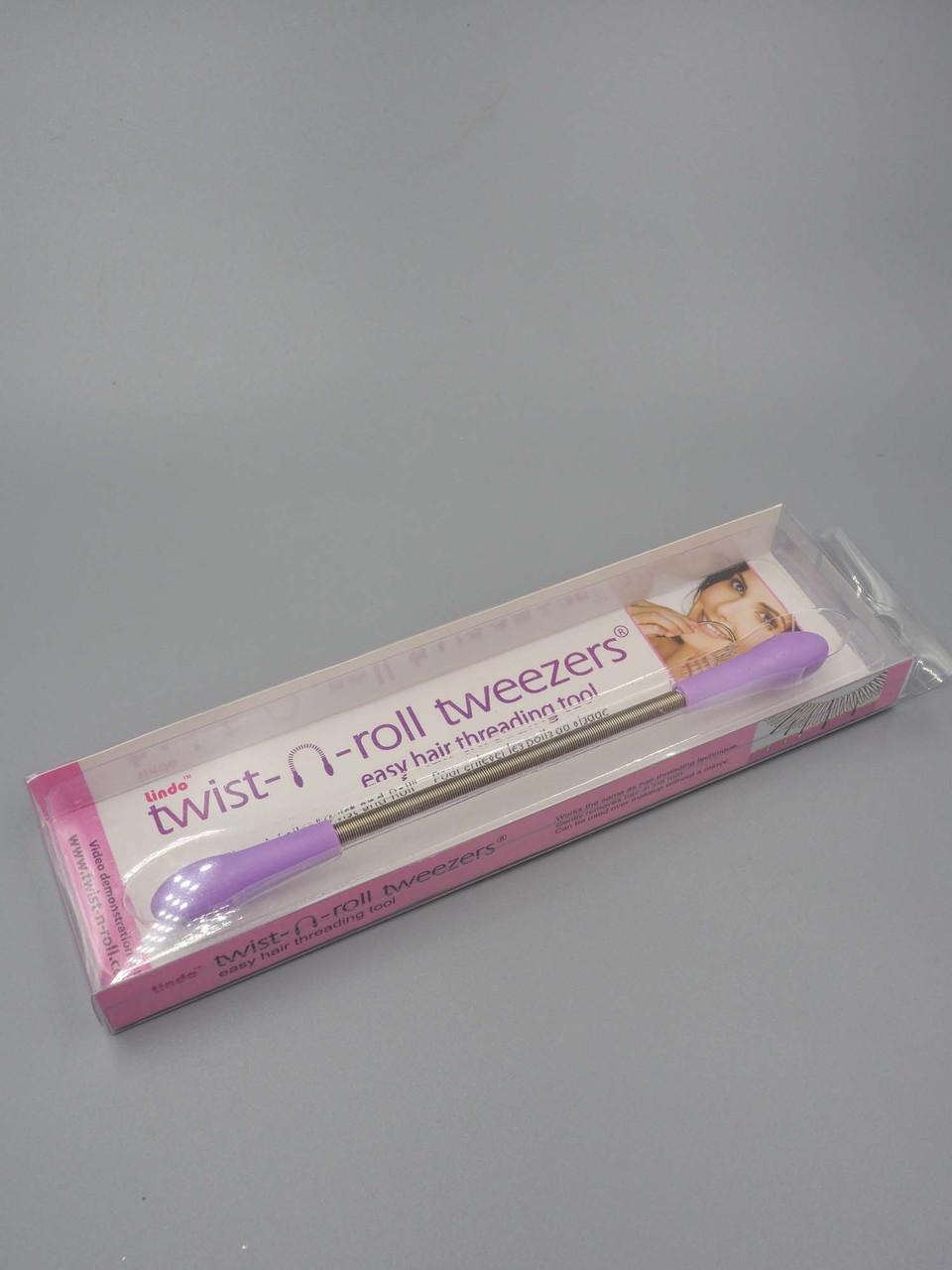 purple twist n roll tweezers
