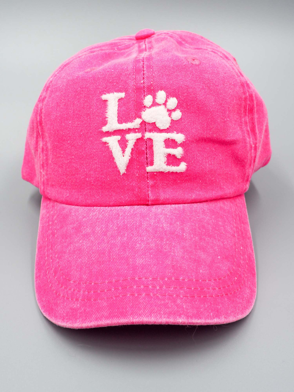 Vintage pink dog paw baseball cap alabama girl