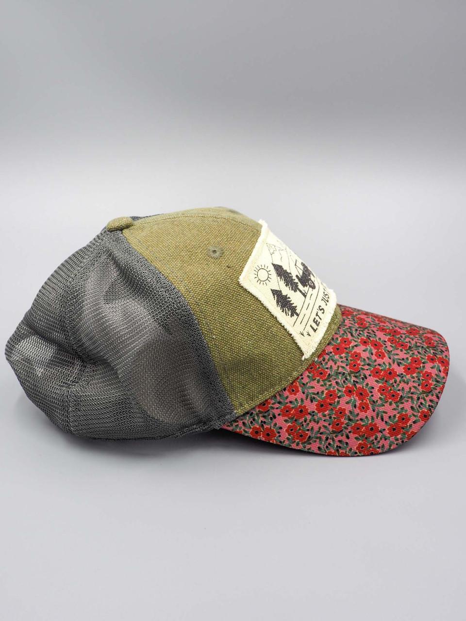 lets just go trucker cap natural life hangout hat