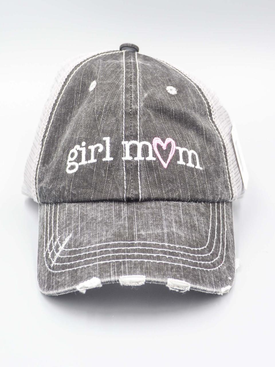 girl mom trucker hat katydid