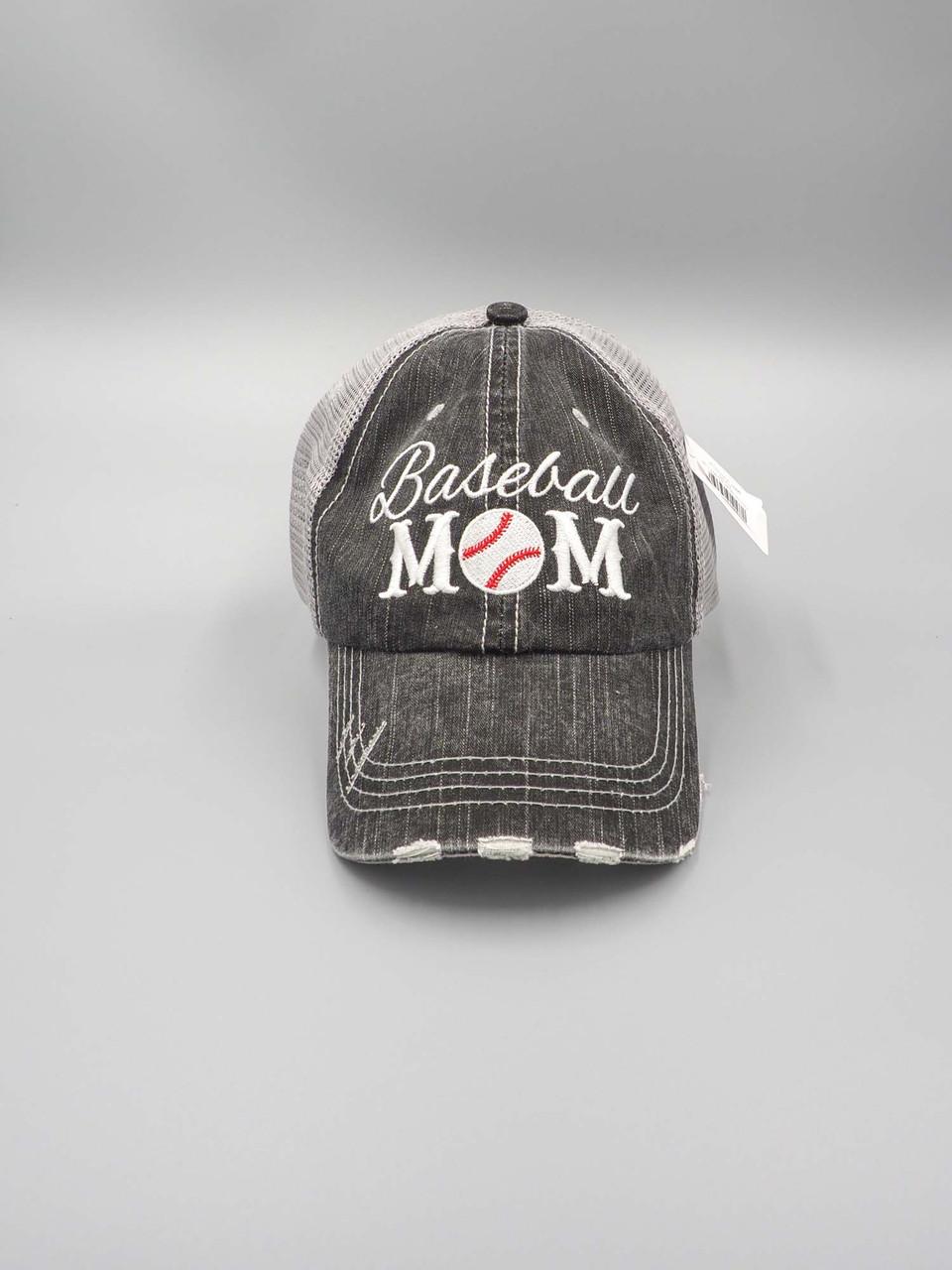 baseball mom trucker cap katydid