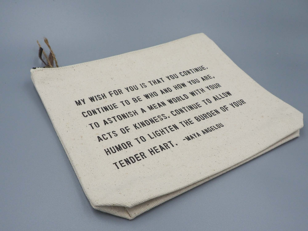 maya angelou canvas pouch sugarboo