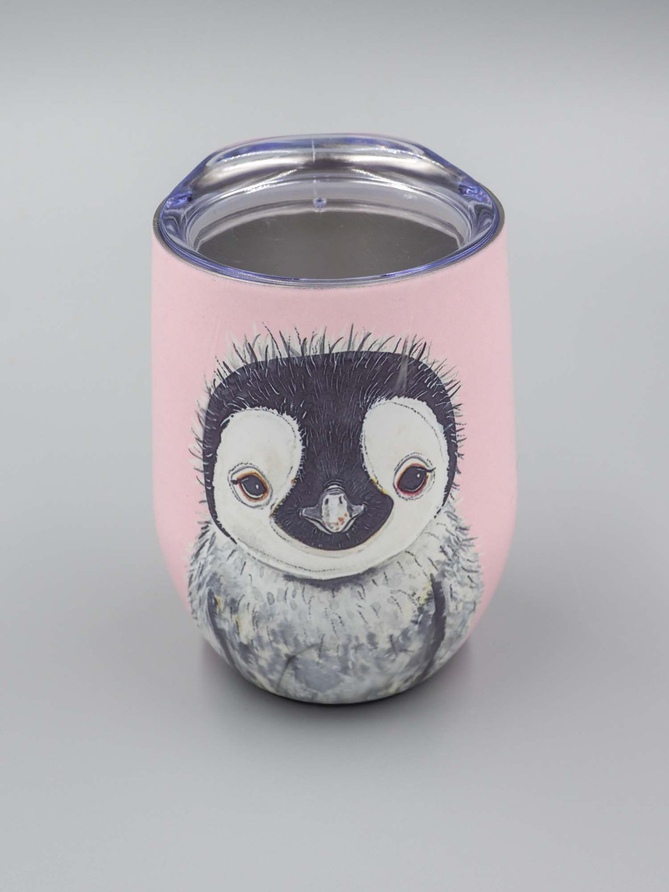 pete the penquin stainless steel wine tumbler studio oh