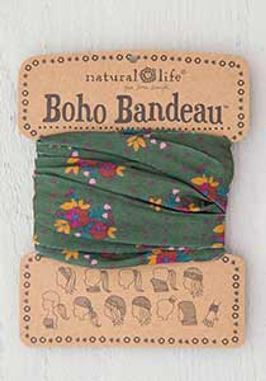 olive magenta floral boho bandeau natural life