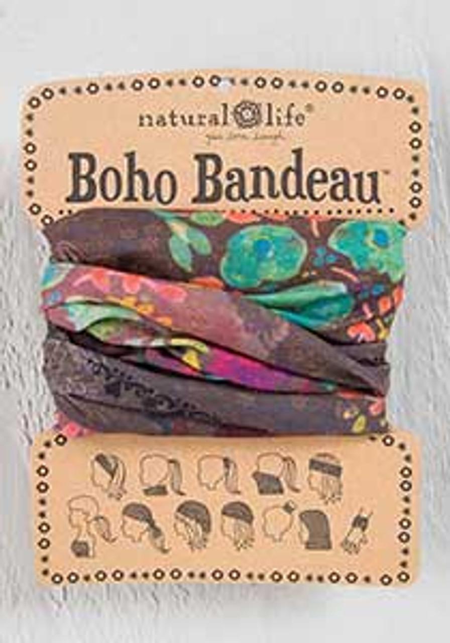 espresso bright floral boho bandeau natural life