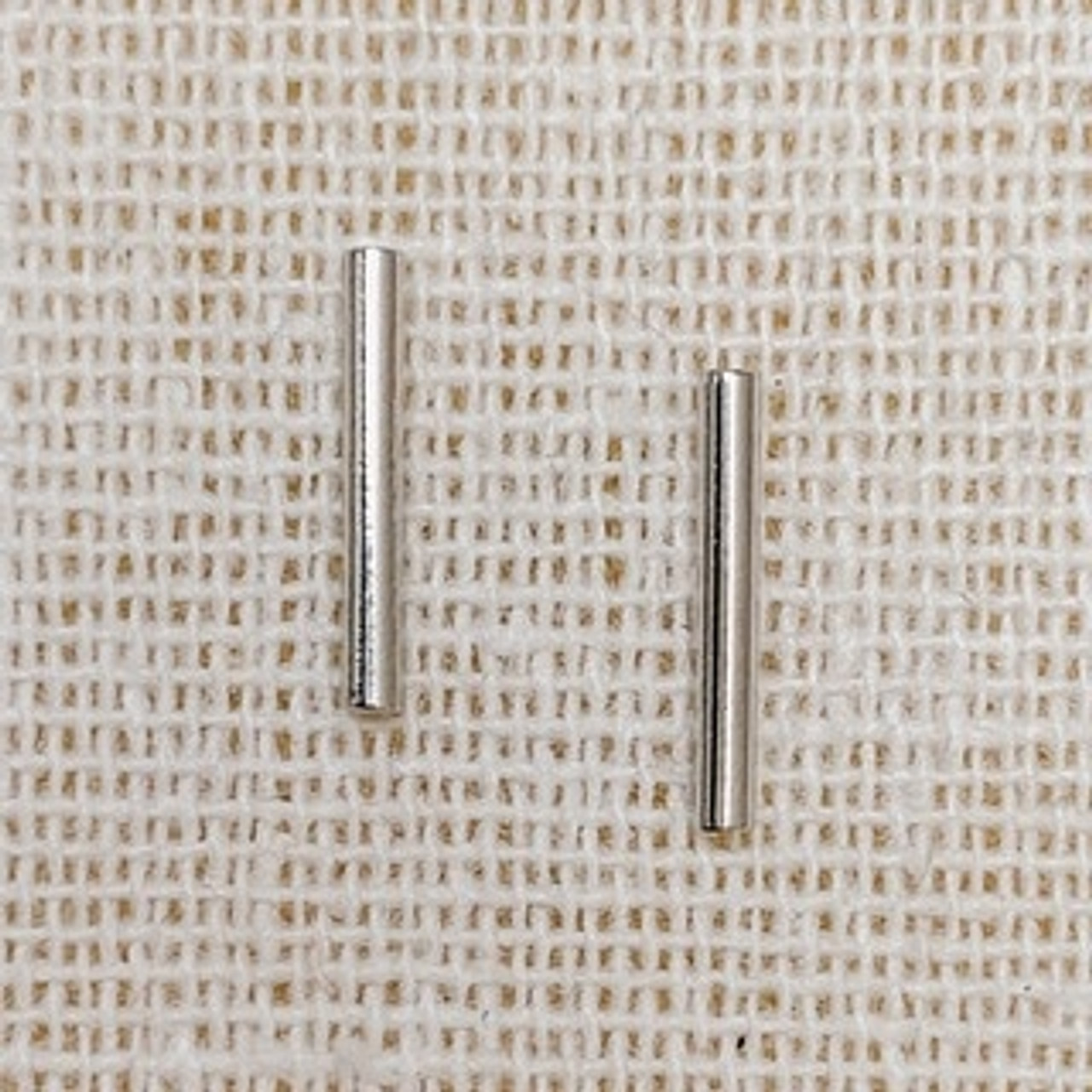 Dainty bar stud earrings in silver, Silver dipped, Sterling silver post, Nickel and lead free.
