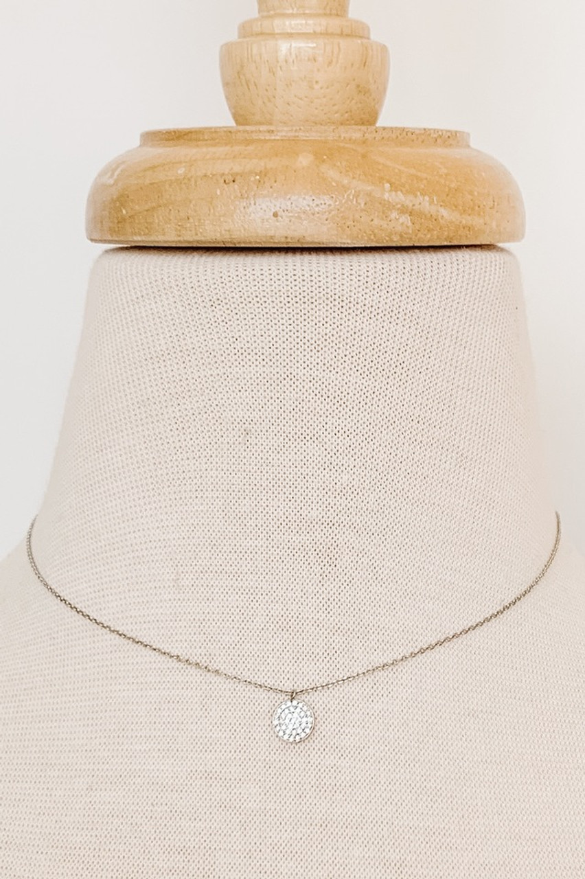 """Dainty Circle Collar Necklace, Cubic zirconia filled circle pendant, Available in GOLD or SILVER,  8"""", 8.5"""" or 9"""" adjustable drop,Nickle and lead free."""