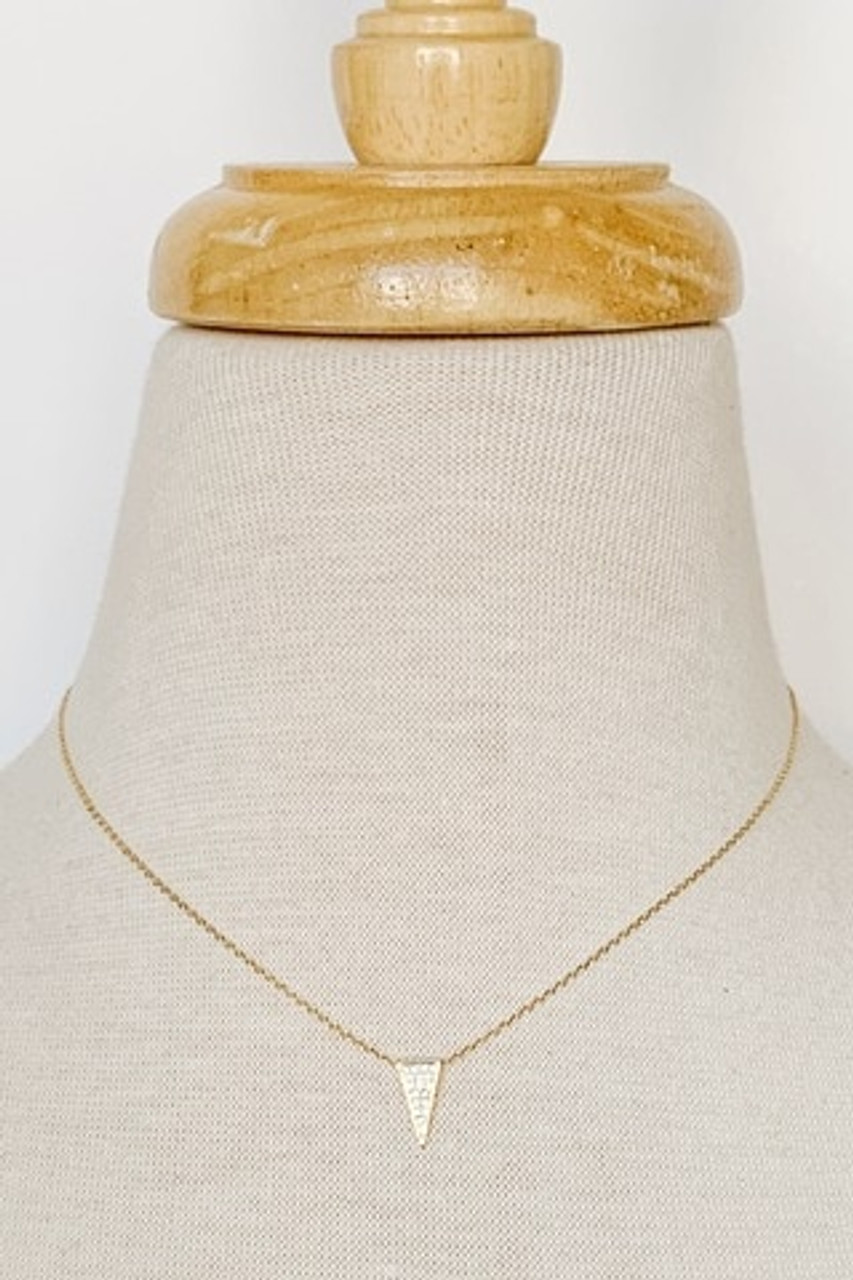 "Dainty Arrowhead Collar Necklace, cubic zirconia filled arrowhead pendant, Available in GOLD and SILVER, Adjustable 14-16"" chain, Nickle and lead free."