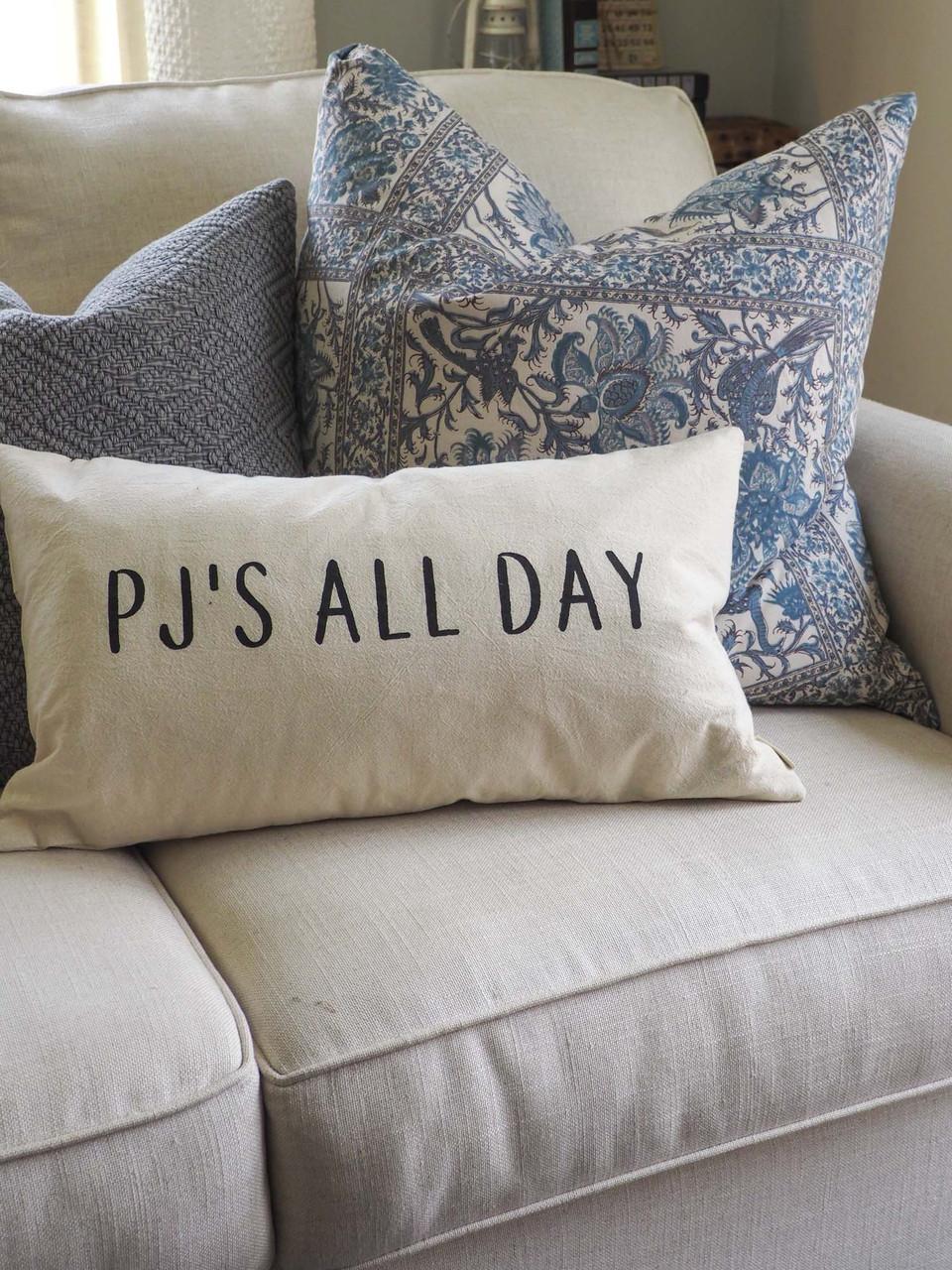 PJ's all day lumbar pillow indaba