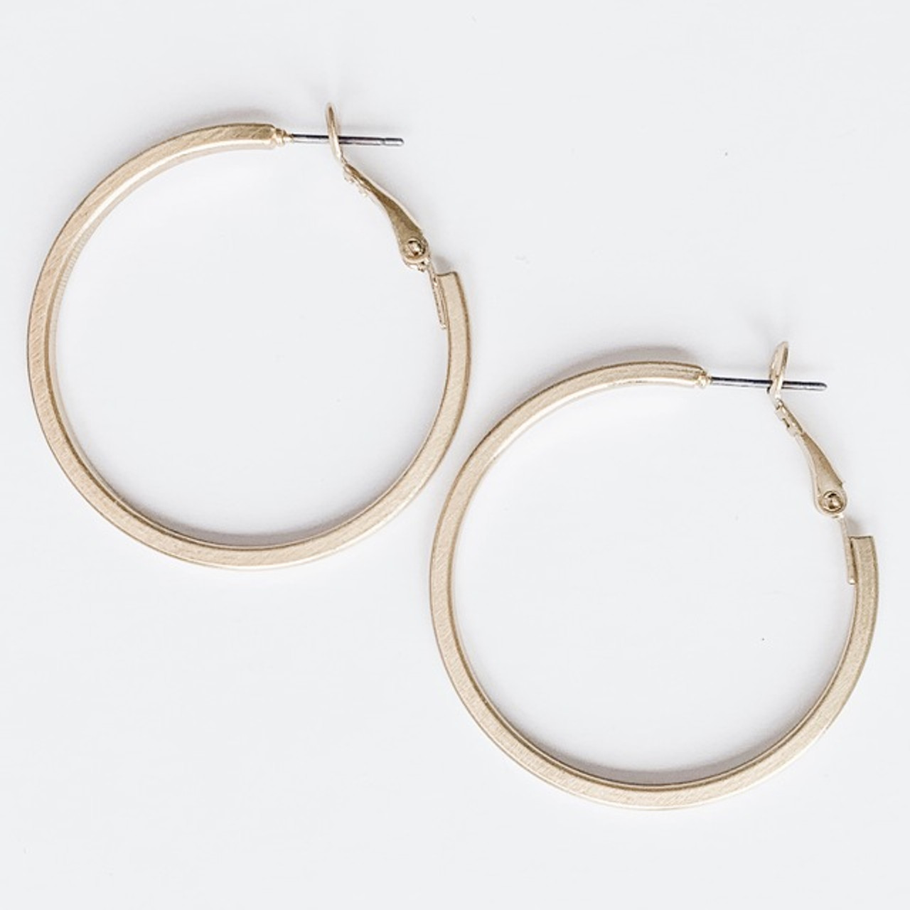 Your everyday gold hoop earrings, Nickel and lead free.