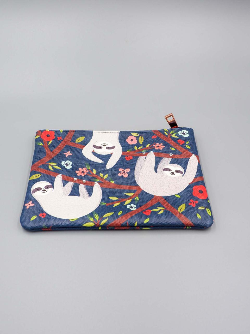 sloth life medium zippered pouch studio oh