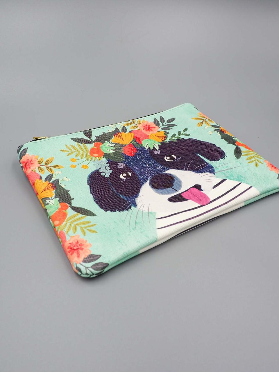 fancy dog medium zippered pouch studio oh