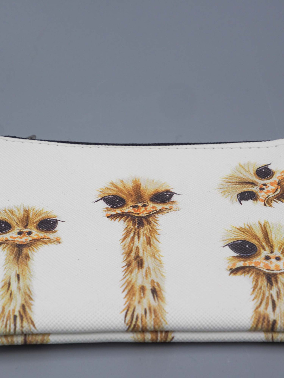 ostrich family reunion small zippered pouch studio oh