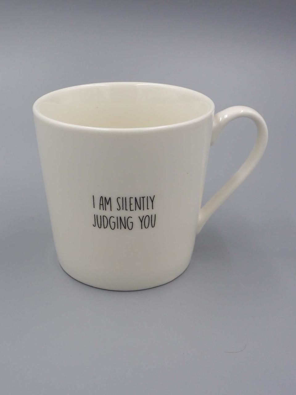 14 oz white cafe mug