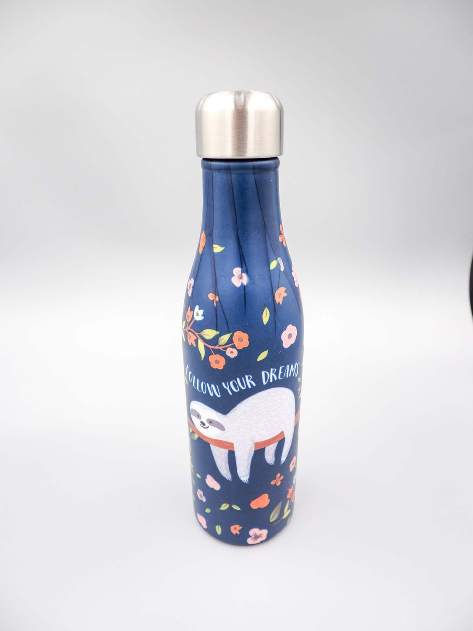 17oz stainless steel water bottle sloth follow your dreams studio oh