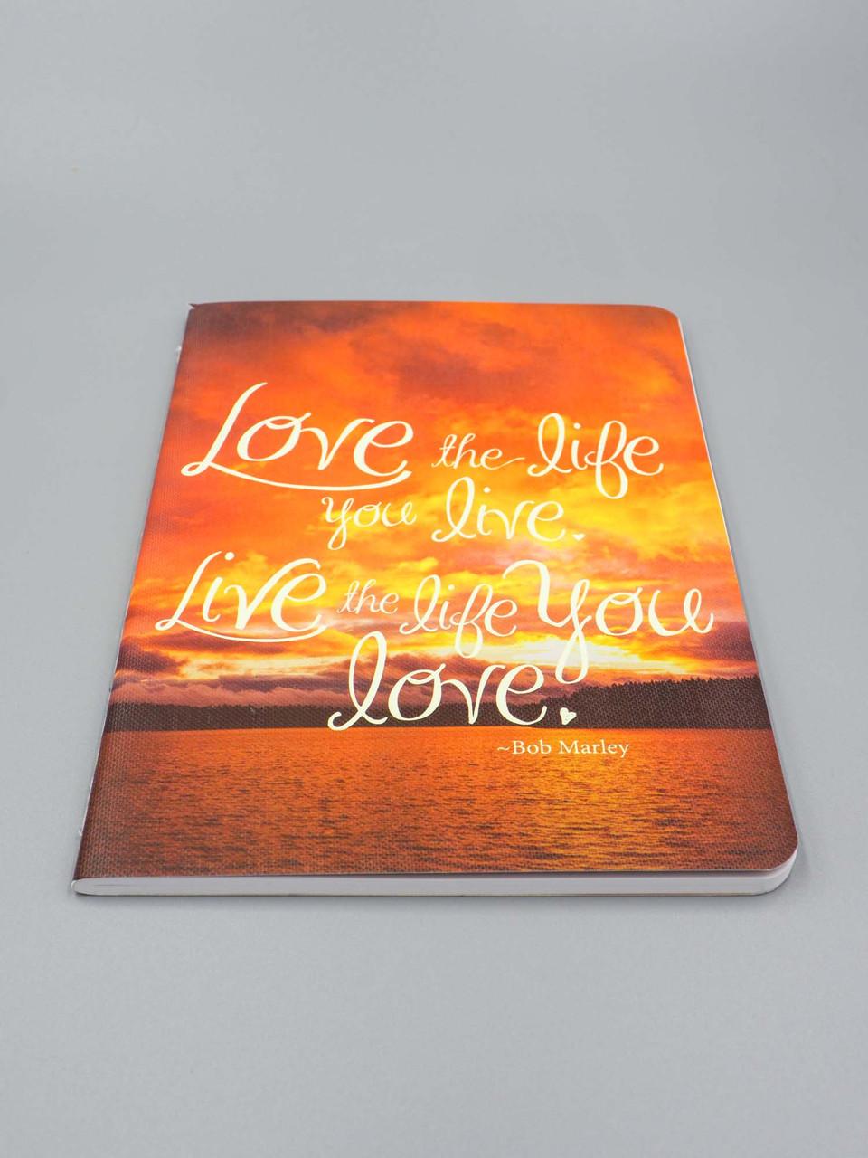 love the life you live live the life you love notebook studio oh