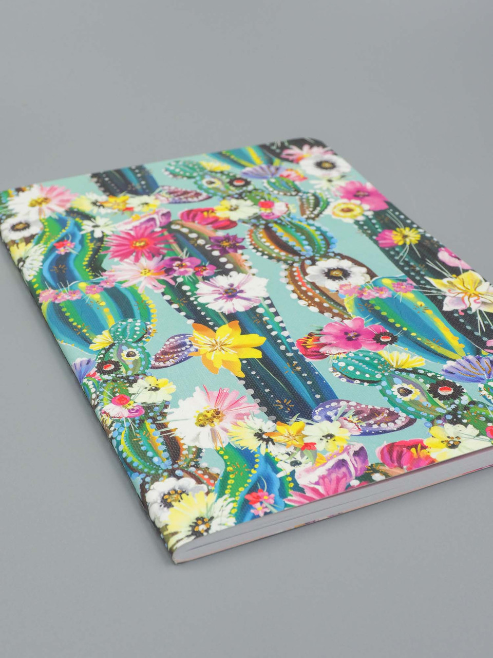 teal succulents notebook studio oh