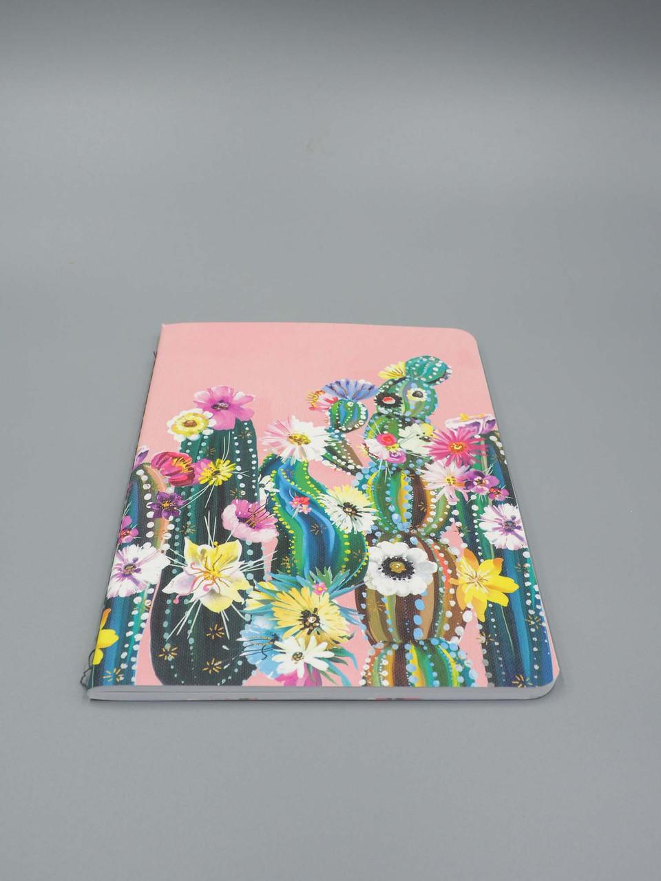 pink succulent notebook studio oh