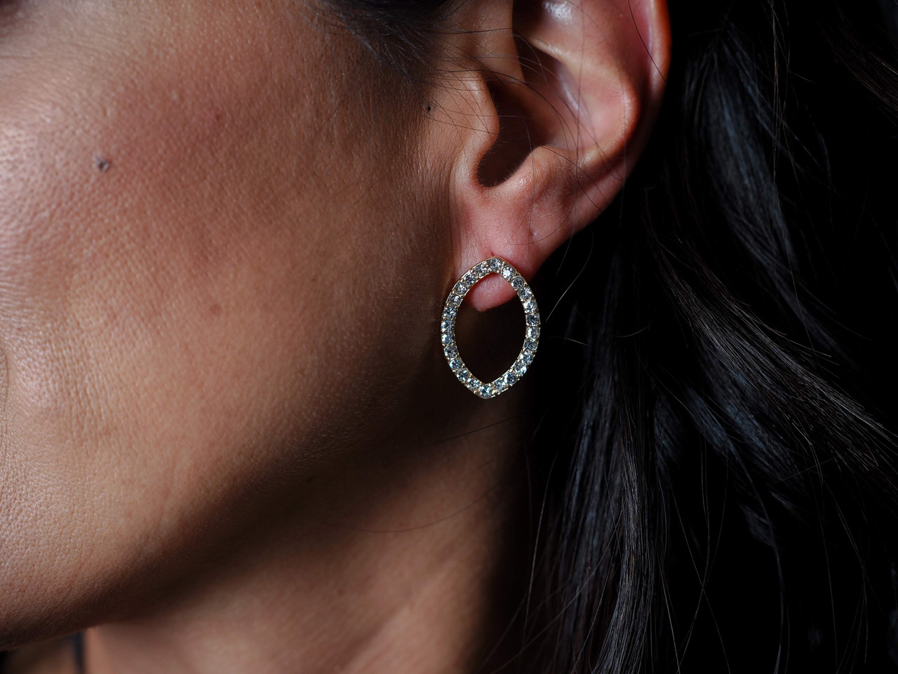 2-in-1 Statement Earrings, Can wear as a double tear or single small tear, Nickel and lead free.