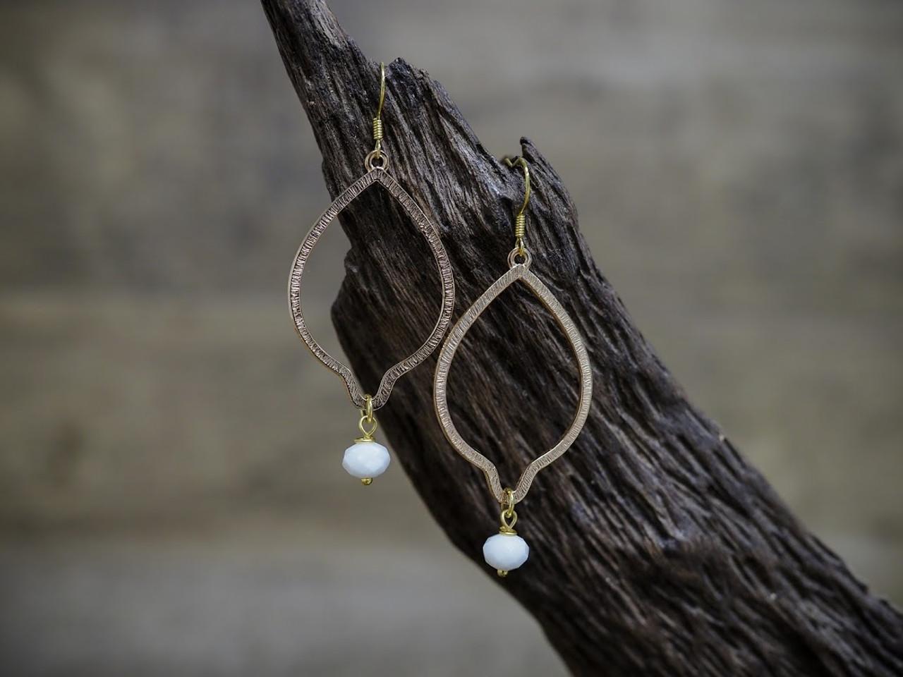 White Crystal Earring