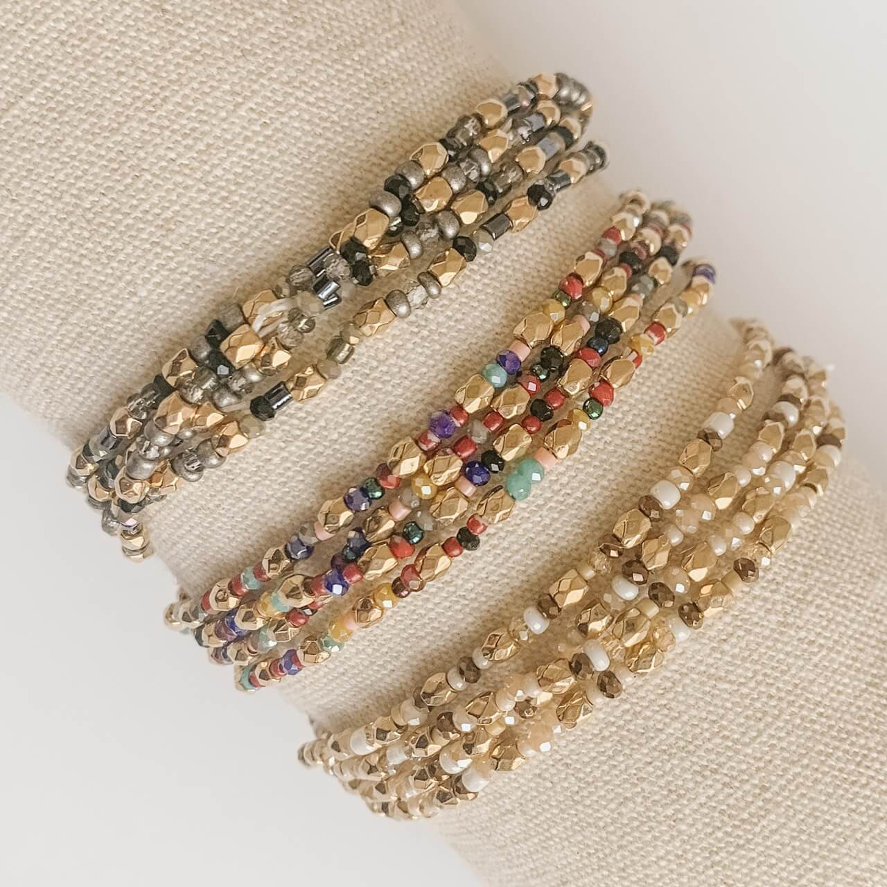 Stretch Seed Bead Bracelet