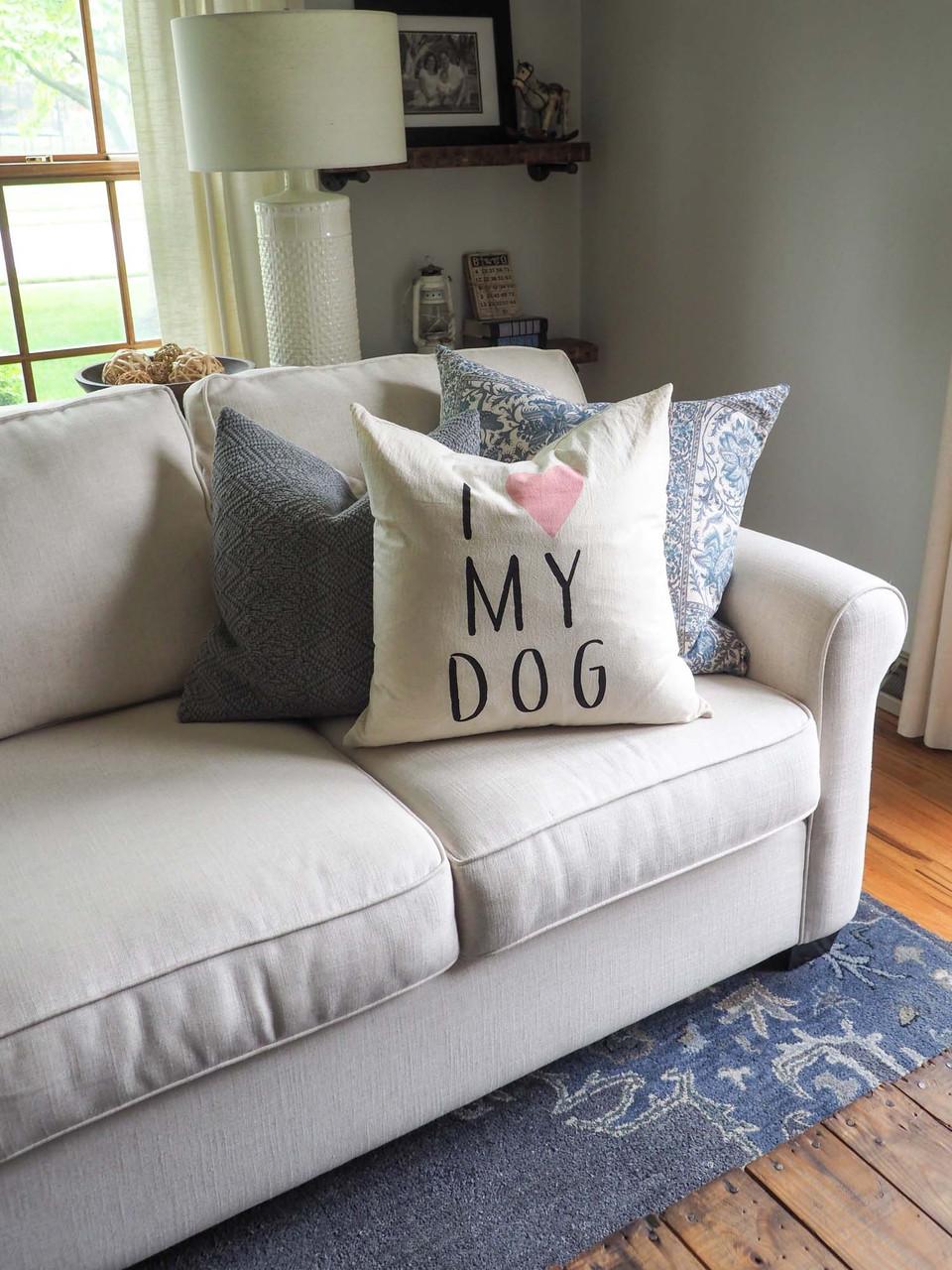 i love my dog pillow indaba