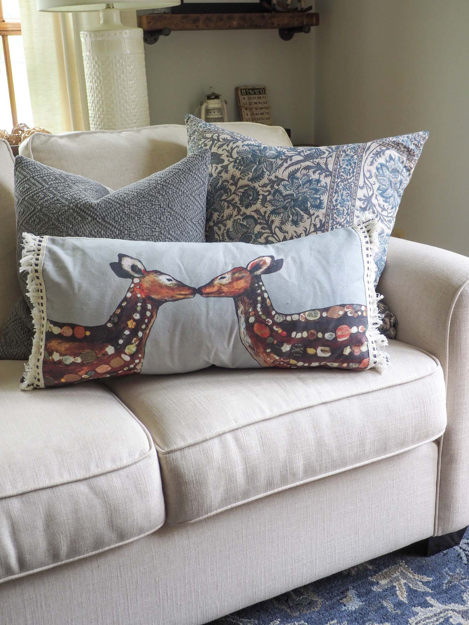 deer love pillow greenbox art