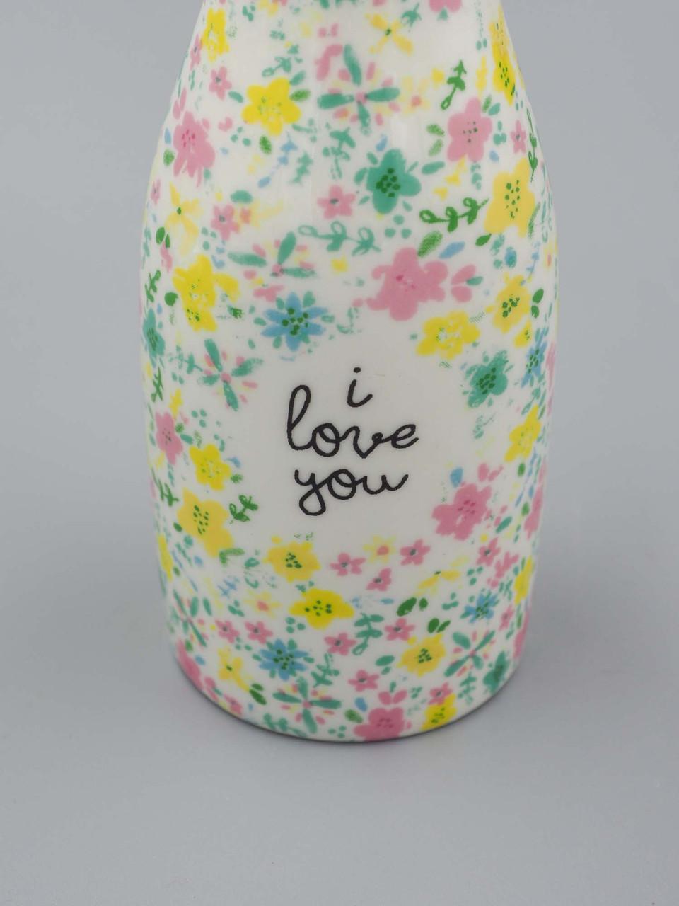 i love you bud vase natural life