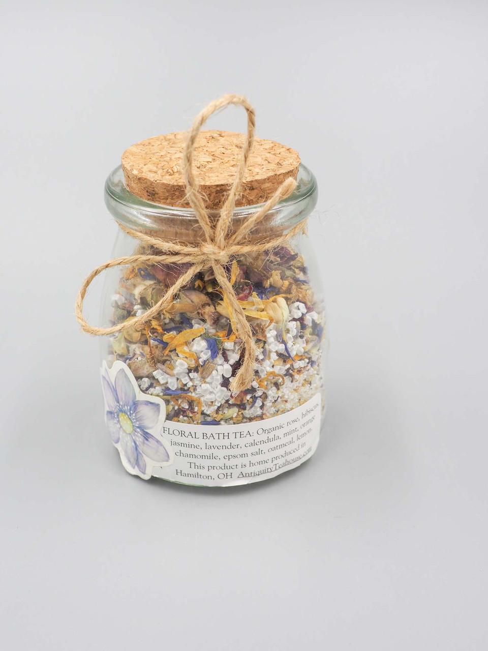 organic floral bath tea
