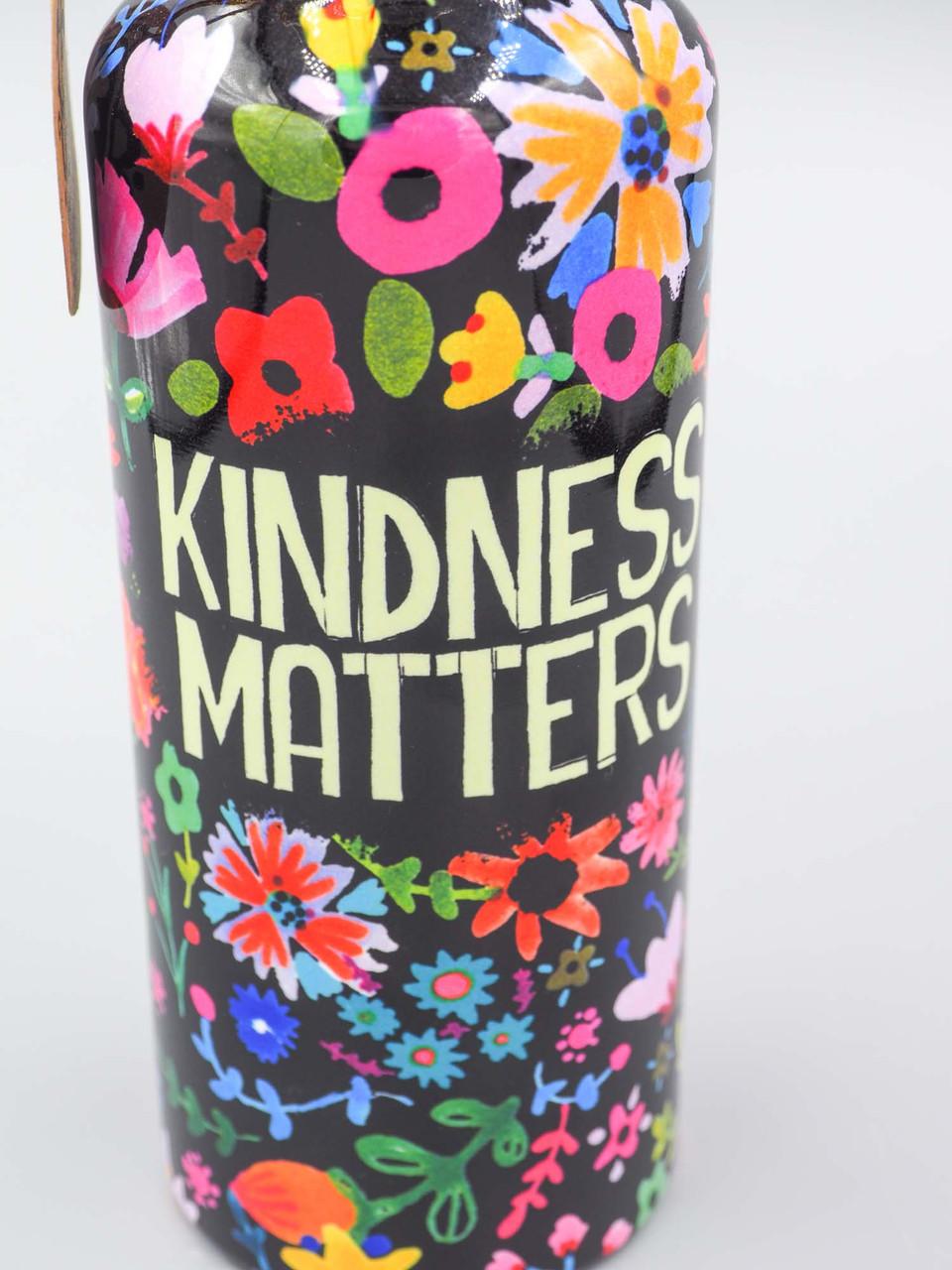 kindness matters traveler water bottle natural life