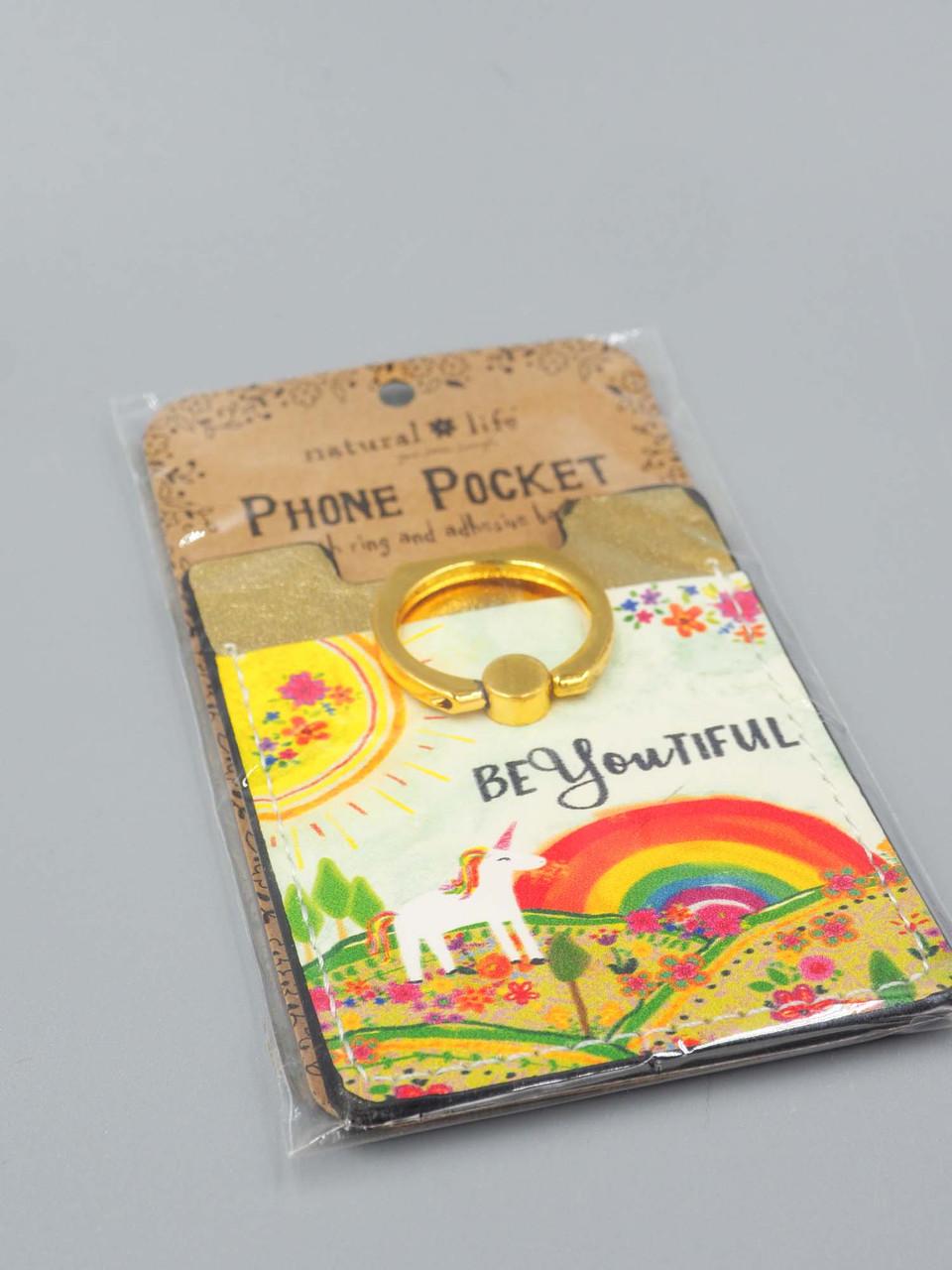 beyoutiful you phone pocket ring natural life
