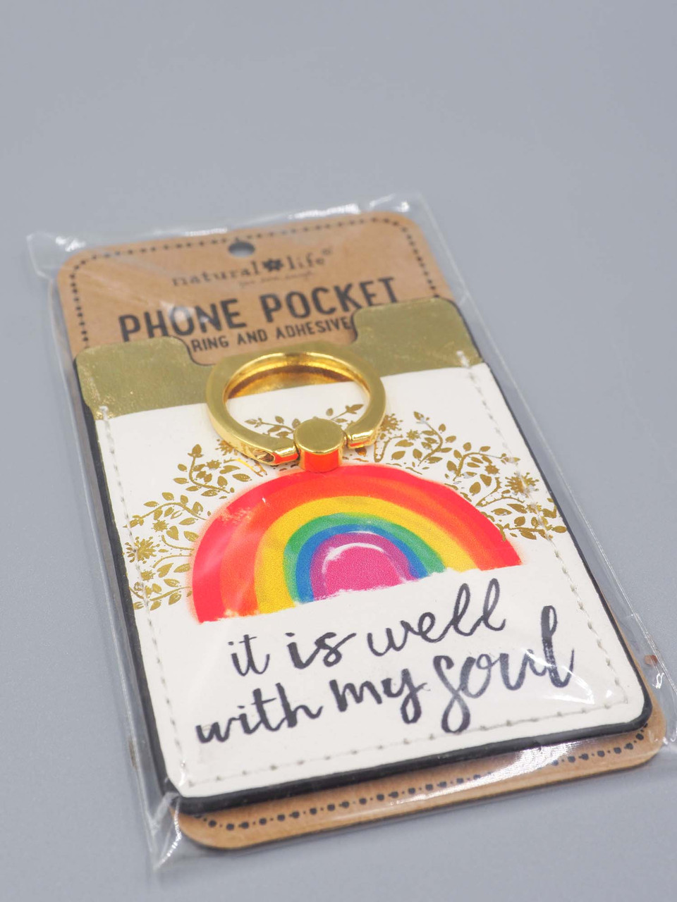 It is well with my soul phone pocket ring natural life