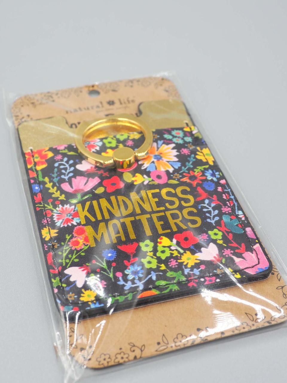 kindness matters phone pocket ring natural life