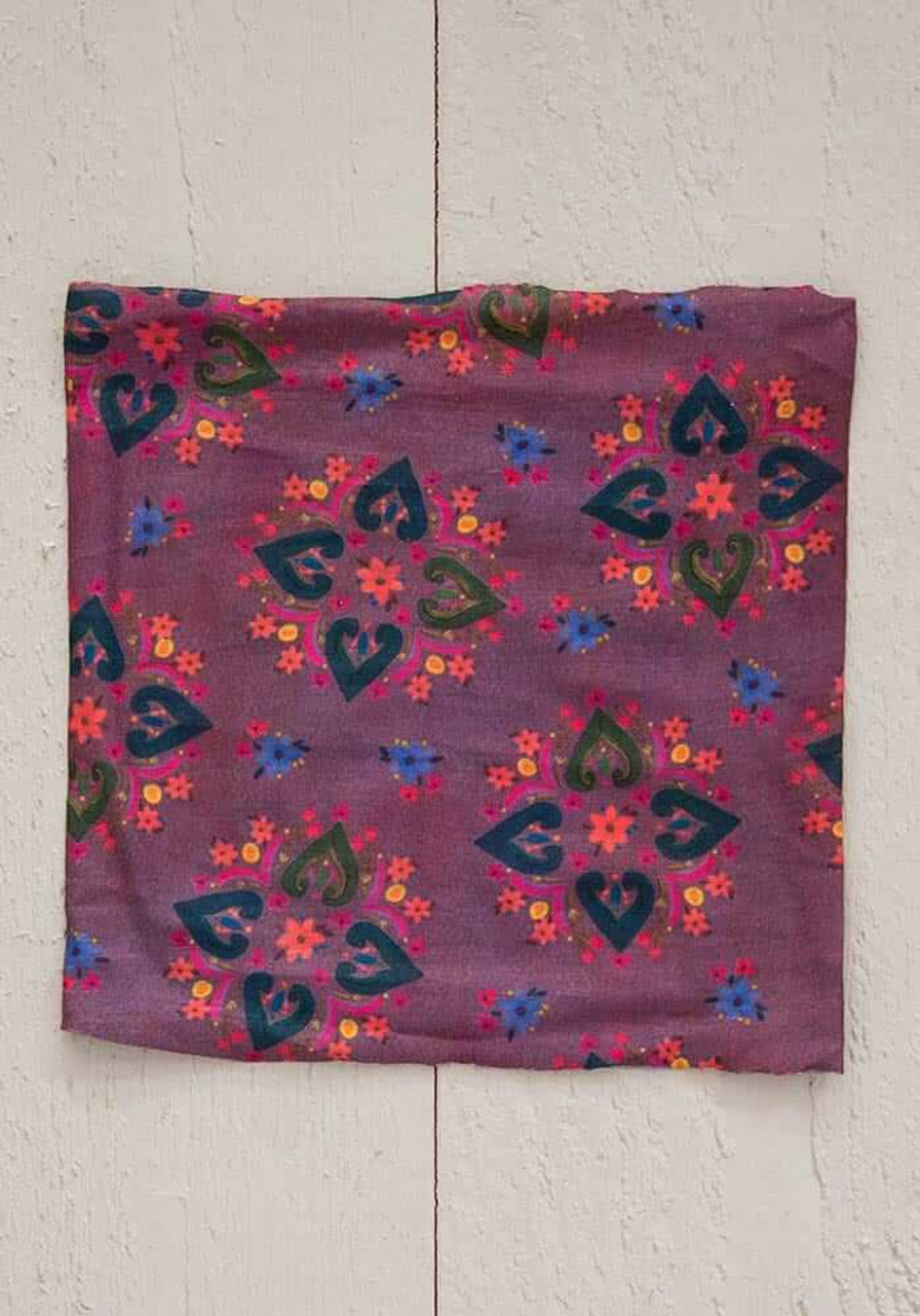 Plum Floral Mandala Half Boho Bandeau