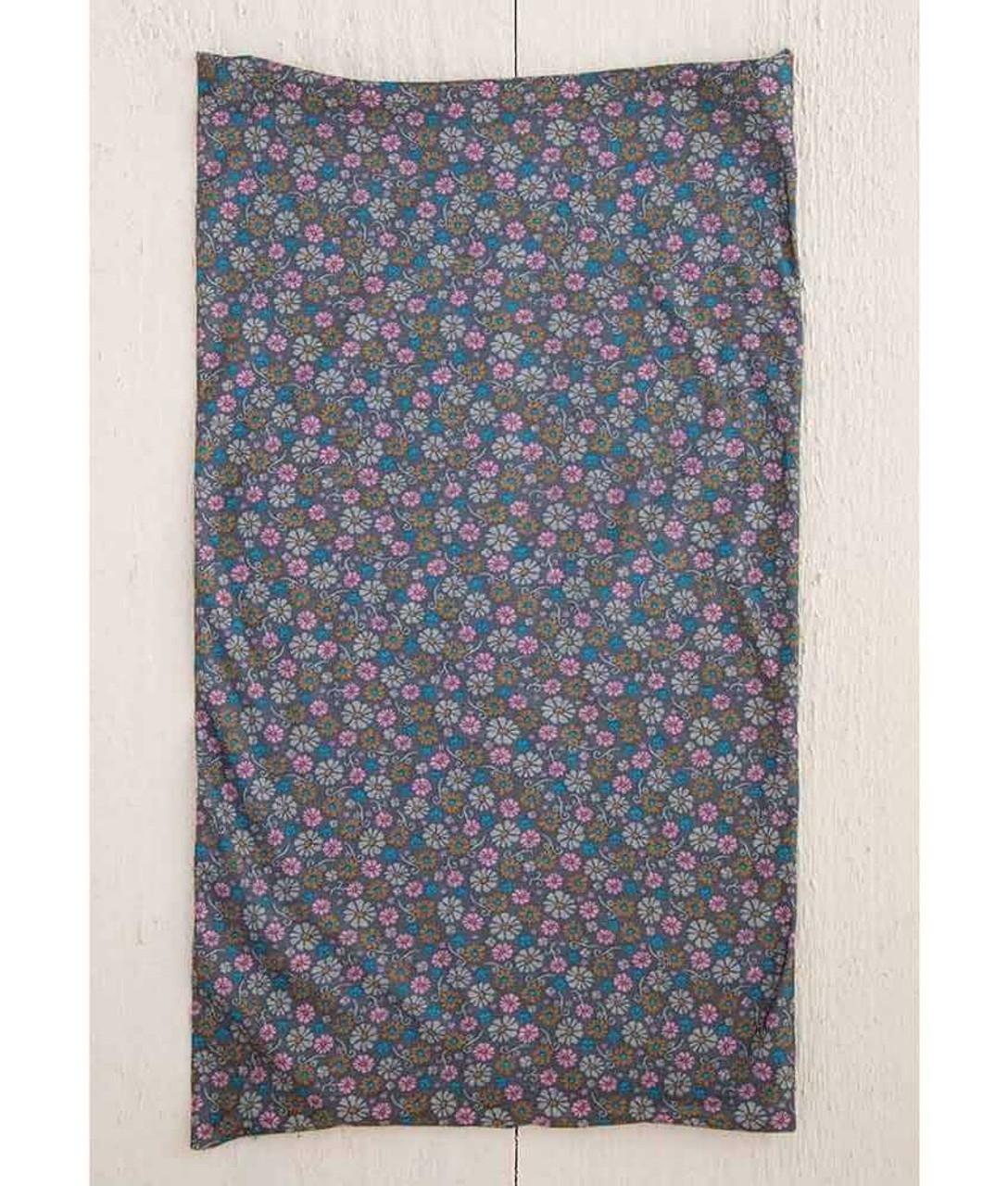 Grey Daisy Floral Print Boho Bandeau