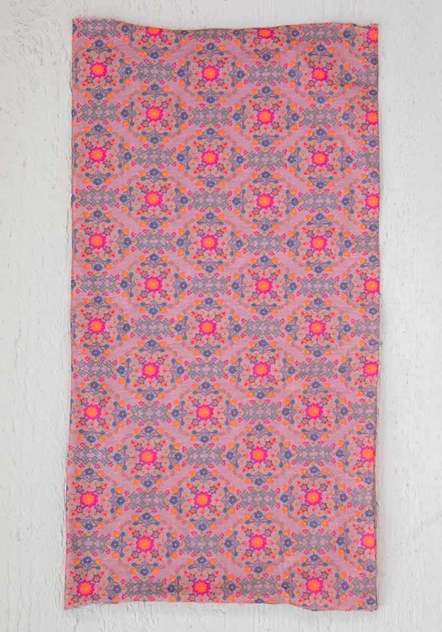 Pink Flower Stamp Boho Bandeau