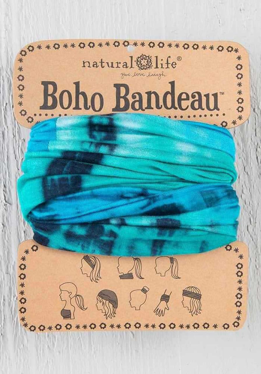 Tie-Dye Turquoise Blue Boho Bandeau